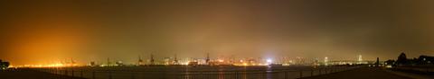 潮風公園の夜景パノラマ写真