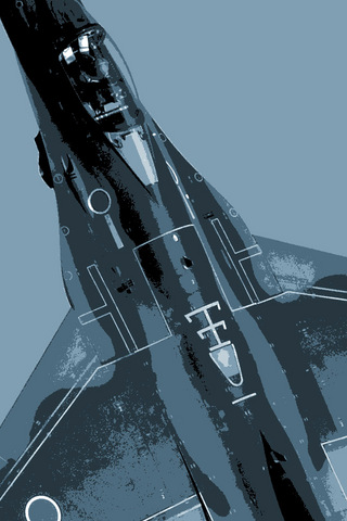 iPhone 4 用戦闘機壁紙画像