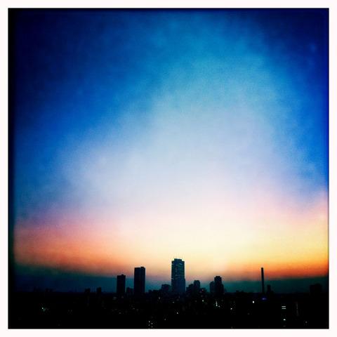 ある日の日没