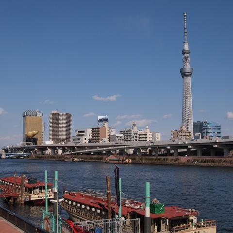 隅田川とスカイツリー