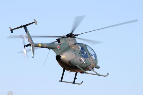 2009年 第1空挺団初降下訓練 その2 OH-6