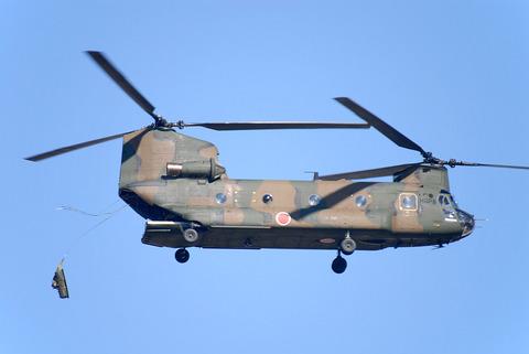第1空挺団初降下訓練 その2 CH-47J