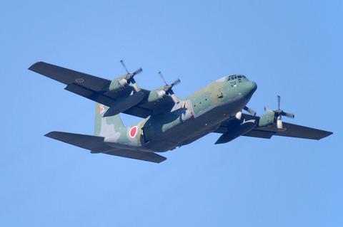 第1空挺団初降下訓練 その2 C-130Hからの空挺降下