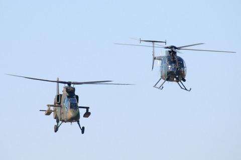 2009年 第1空挺団初降下訓練 その3 OH-1 OH-6