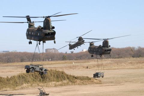 2009年 第1空挺団初降下訓練 その3 CH-47J