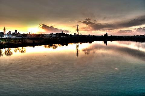 夕日の写真をHDR化