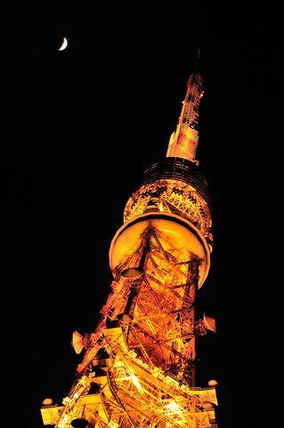 皆既月食と東京タワー